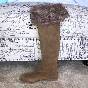 NWOT Knee High American Eagle Faux Fur Boots